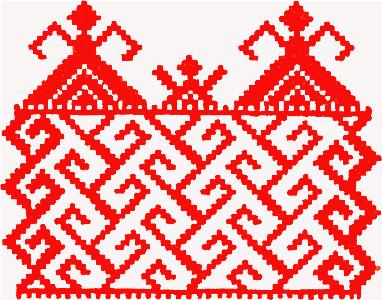 Орнаменты вышивки на полотенце